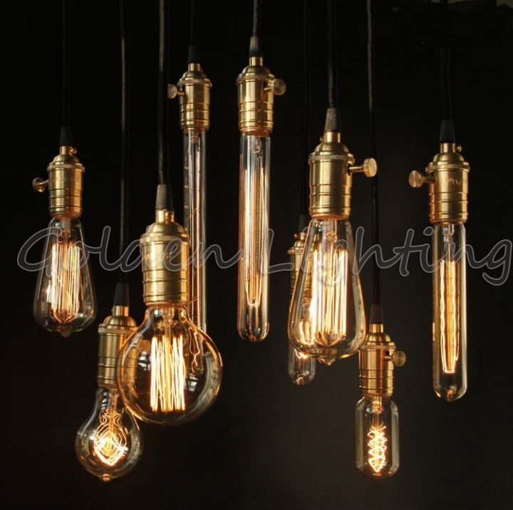 Free shipping led edison bulb vintage retro diy e27 spiral for Diy edison light fixtures