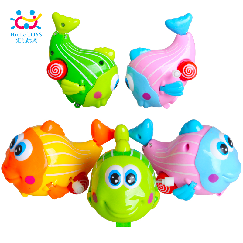 Gift for Birthday Kids Baby Boys Girls Chain Toys Colorful Fish New Wind Up Animal Educational for 1-3 Years Old Children(China (Mainland))