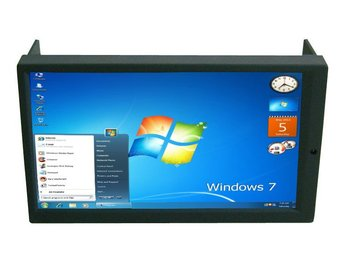 "2 DIN Touch Screen LED Monitor  6.95""  500:1 Contrast and 400 Nit LCD panel for Car PC Industrial pc"