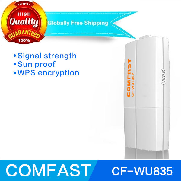 COMFAST CF-WU835P usb wireless adapter 300mbps 2T2R Wi-Fi WPS one button encryption wifi adaptor RTL8192EUusb wlan adapter(China (Mainland))