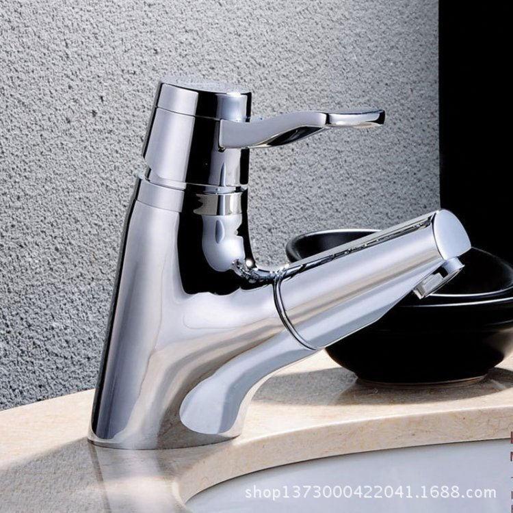 2015newAZOS all copper basin mixer faucet basin faucet AC1012 pull-out drawer basin faucet hot and cold water<br><br>Aliexpress