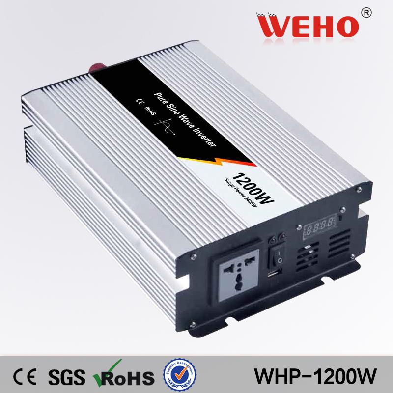 power inverter 1200W DC 24v to AC 220v power inverter pure sine wave car inverter 47~63hz home inverter(China (Mainland))
