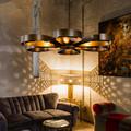 6 Heads Loft Style Creative American Country Industrial Vintage Bar Chandelier Coffee Restaurant Iron Chandelier Free