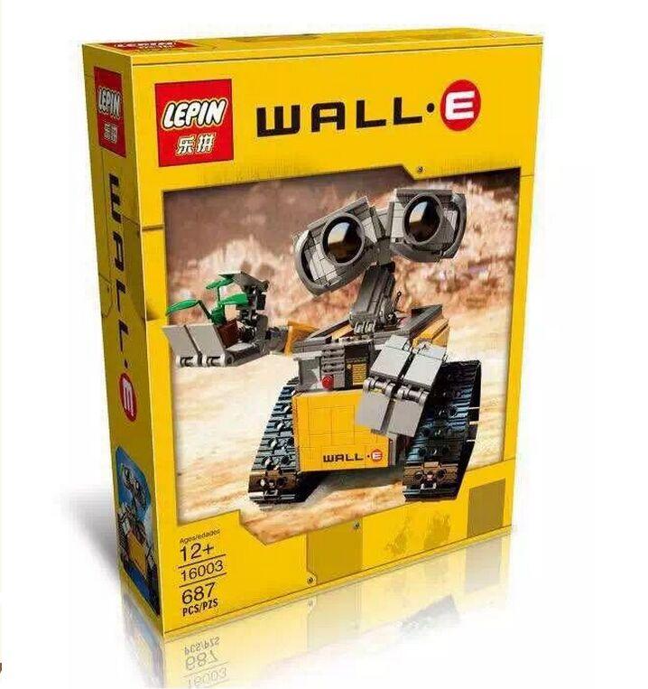 2016 New LEPIN 687Pcs Idea Robot WALL E Model Building Kits Minifigure Blocks Bricks Children Toys Compatible With Legoe 21303(China (Mainland))