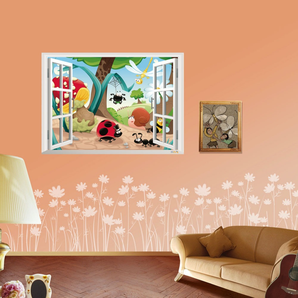 3d wall stickers for kids wall decals room decor fake 3d excavator wall sticker for kids bedroom wallpaper