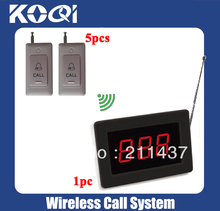 Hospital nurse call system wireless pager system of 1 Call pager K-1000 for nurse or doctor and 5 Call bell K-B for patient(China (Mainland))