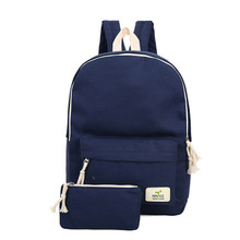2016 Solid Color Women Backpack High Quality Cute Canvas Backpack Female School Bags For Teenagers Mochila Escolar CB206(China (Mainland))