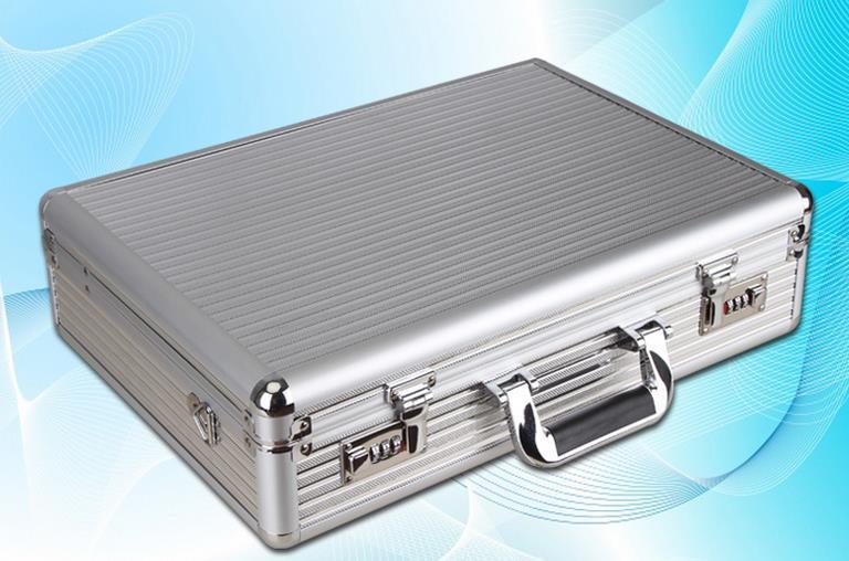 Hot sale   Aluminum Code case password boxes Upscale lockbox suitcase Portable luggage suitcases size:47.5*33*13cm<br><br>Aliexpress