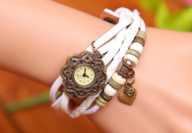 Fashion & Casual High quality real cowhide Love the mood Watches women's fashion Lovers' Wristwatches(China (Mainland))