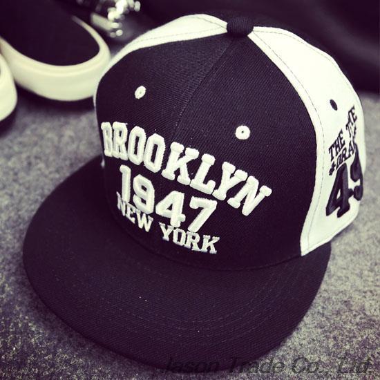 1947 Бейсбольная кепка в бруклинском стиле, спортивный головной убор, кепка, бейсболка ...