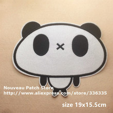 big size Panda embroidered Iron cartoon Patches garment bag badge BX Quality Appliques diy accessory - Nouveau (ribbons/patches store)