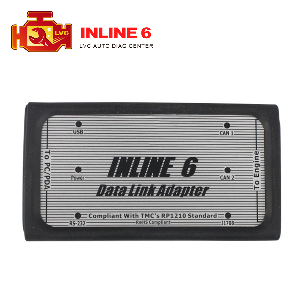 2016 Top selling Inline 6 Data Link Adapter INLINE 6 Insite Diesel Truck Diagnostic Tool with Good Quality DHL free Shipping(China (Mainland))