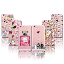 Case Cover For Apple iPhone 5 5s SE 6 6s Plus 6Plus Luxury Girly Makeup Things Blush Cosmetic Transparent Soft Silicone(China (Mainland))