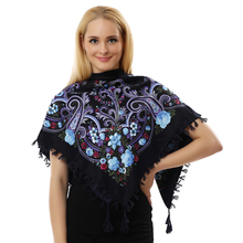 BFDADI 2016 Hot Sale Autumn Winter Fashion Ladies Tassels Big Square Scarf Floral design Women Brand shawl 15 colors 90X90cm(China (Mainland))