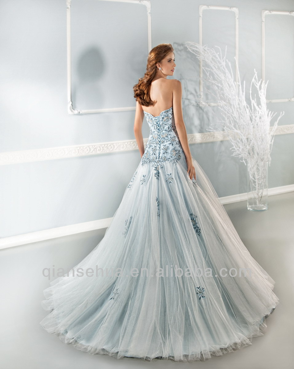 Light wedding dresses gown and dress gallery for Light blue and white wedding dresses