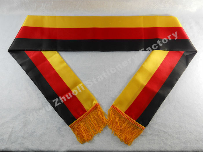 Factory Supply Stock Scarf Printing Satin Germany Flag Scarf 120X12CM Scarves Free Shipping(China (Mainland))