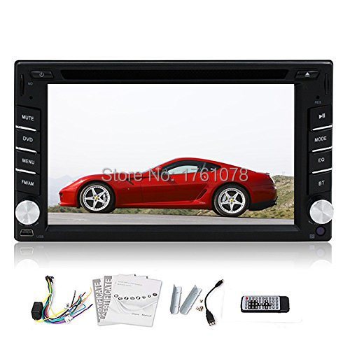 Bluetooth Double 2 Din In Dash 6.2 inch Touch screen LCD Car Stereo CD DVD Player Radio SD USB RDS Mp3 FM Auto +Rremote Control(China (Mainland))