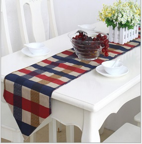 wedding decoration plaid table runner cotton chemin de table party decorations runners modern. Black Bedroom Furniture Sets. Home Design Ideas