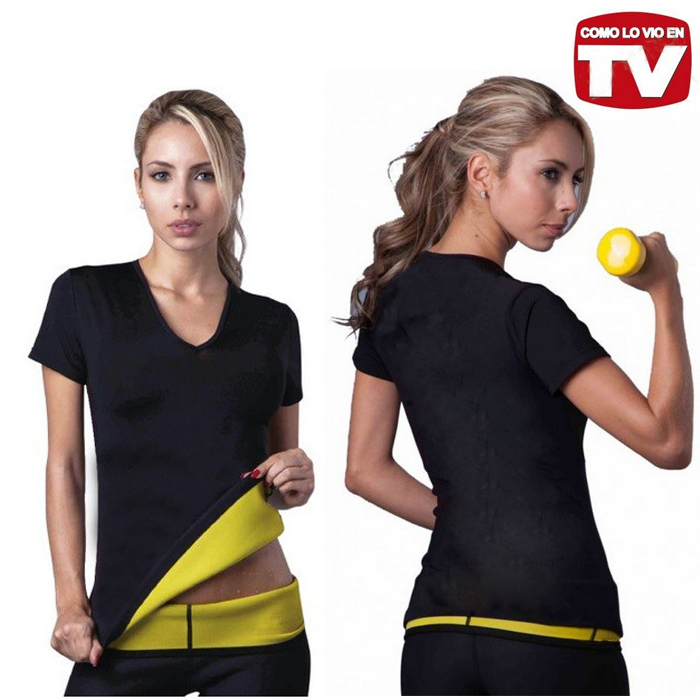 2015 New product with logo Hot Shapers neotex T shirt Hot Shapers Stretch Neoprene Slimming Vest Body Shaper Control Vest tops