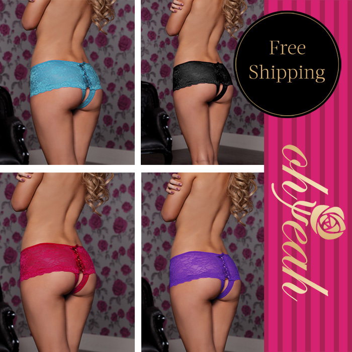 P5011 Recommend hot sale new style sexy lingerie hot open crotch women underwear panties free shipping bottom underwear