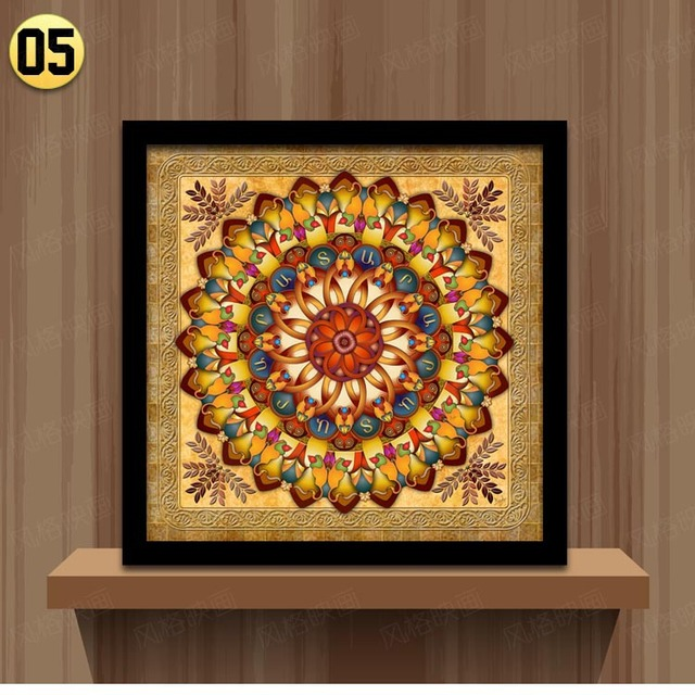 Home Decoration Framed Wall Art Canvas Painting Ethnic
