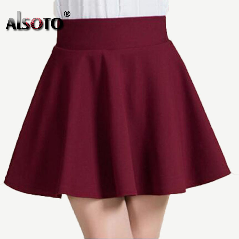 New 2016 Summer style sexy Skirt for Girl lady Korean Short Skater Fashion female mini Skirt Women Clothing Bottoms