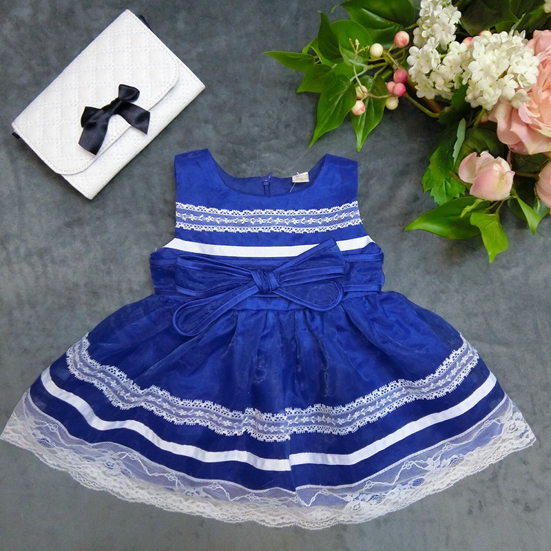 Wholesale high-quality party dress baby girls dress kid girls lace evening dress  SIZE:6-9-12-18-24-36 2015110-3
