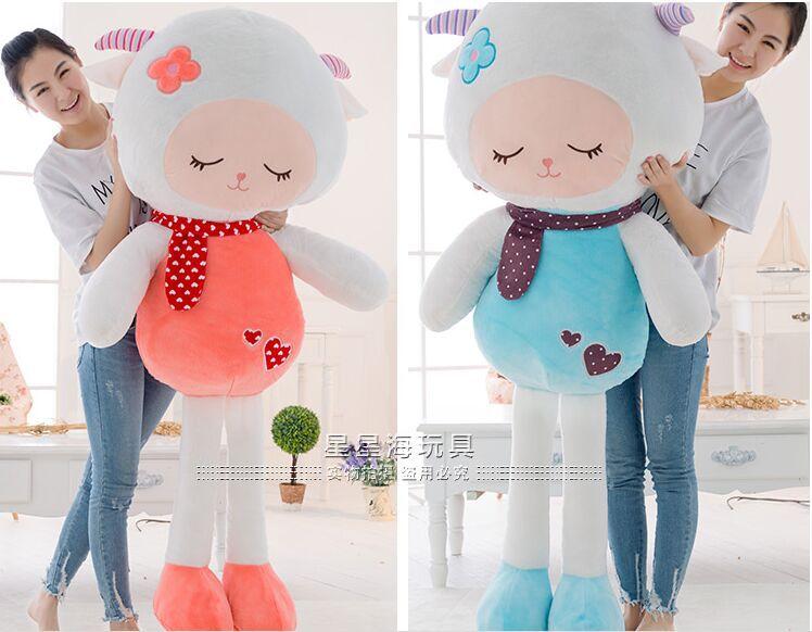 huge 150cm beautiful sheep plush toy cartoon goat doll,throw pillow birthday , proposal gift w2983(China (Mainland))