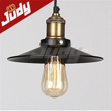 Painted Iron  Retro vintage pendant light Countryside Edison  110-240v Dia: 220mm lamp e27(China (Mainland))