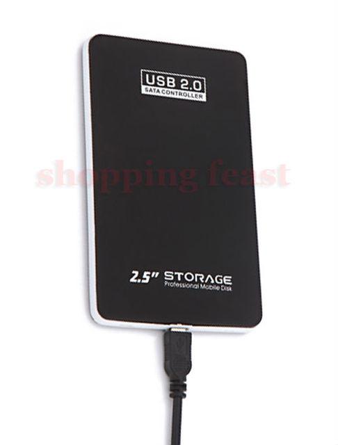 2.5 inch USB 2.0 SATA HDD Case HD Hard Drive Disk Enclosure Black Color Free Shipping+Drop Shipping