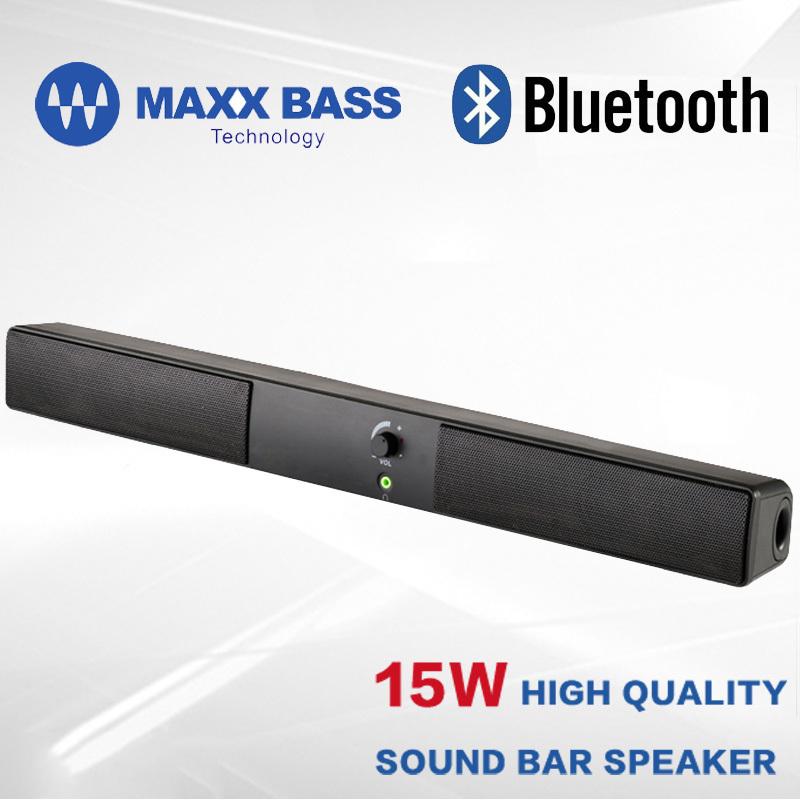SLIMLINE POWERED BLUETOOTH SOUNDBAR , SUBWOOFER SOUND BAR SPEAKER/COMPUTER SPEAKER , WITH MAXXBASS DSP FOR TV /SMART PHONES(China (Mainland))