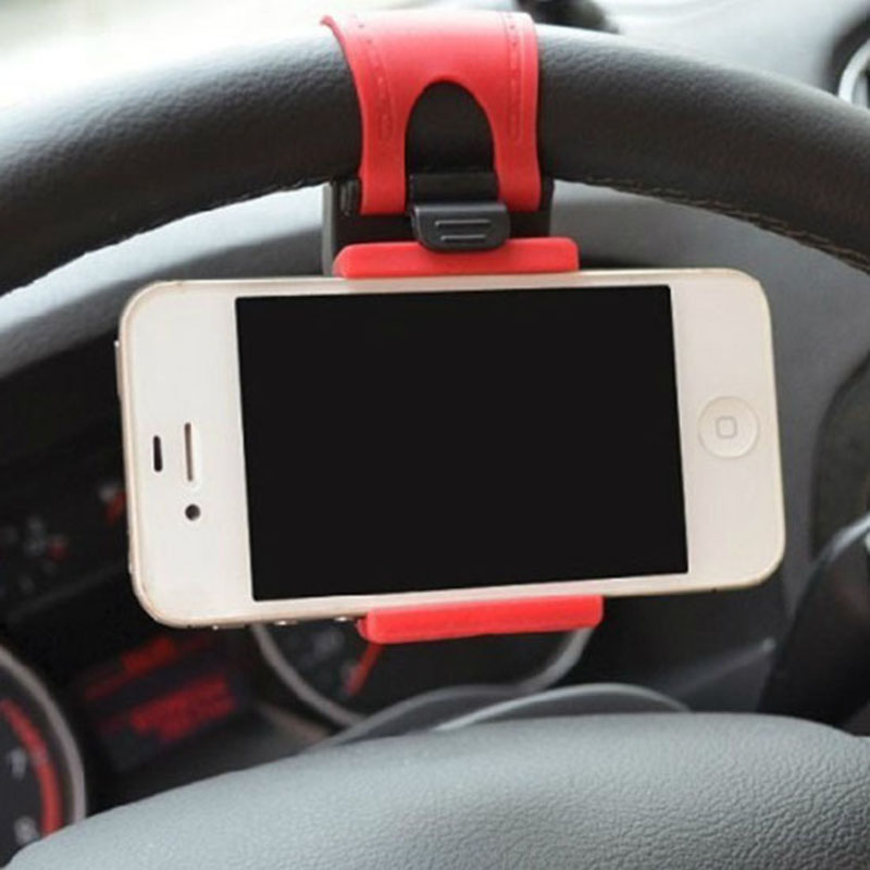 Universal Car Auto Steering Wheel socket navigate Case Holder Stand for iPhone 4 5 6 6S Plus border for cell phone GPS MP4 PDA(China (Mainland))