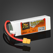 Buy High Rechargeable Lipo Battery ZOP Power 11.1V 2200MAH 3S 20C Lipo Battery XT60 Plug for $13.99 in AliExpress store