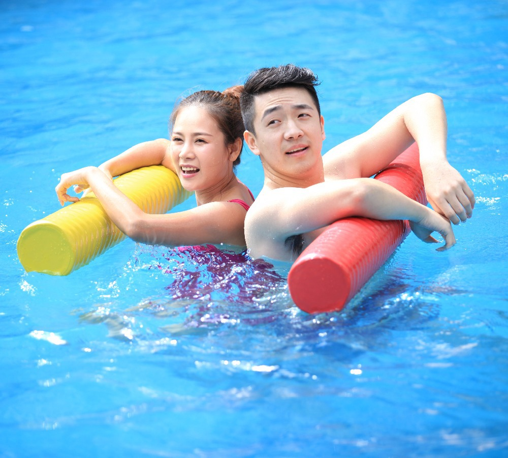 Vinyl coated swimming pool Soft NBR foam floating noodles(China (Mainland))