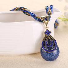 Fashion Retro Ethnic Style Rhinestone Necklace Pendant Chain Choker Multi Layer Statement Pendant Necklace Christmas Gifts 012(China (Mainland))