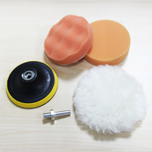 """Free Shipping 4"""" 100mm Car Polishing Pad set Wet Foam Buffing Pads for Car Styling with Drill Adaptor M10(China (Mainland))"""