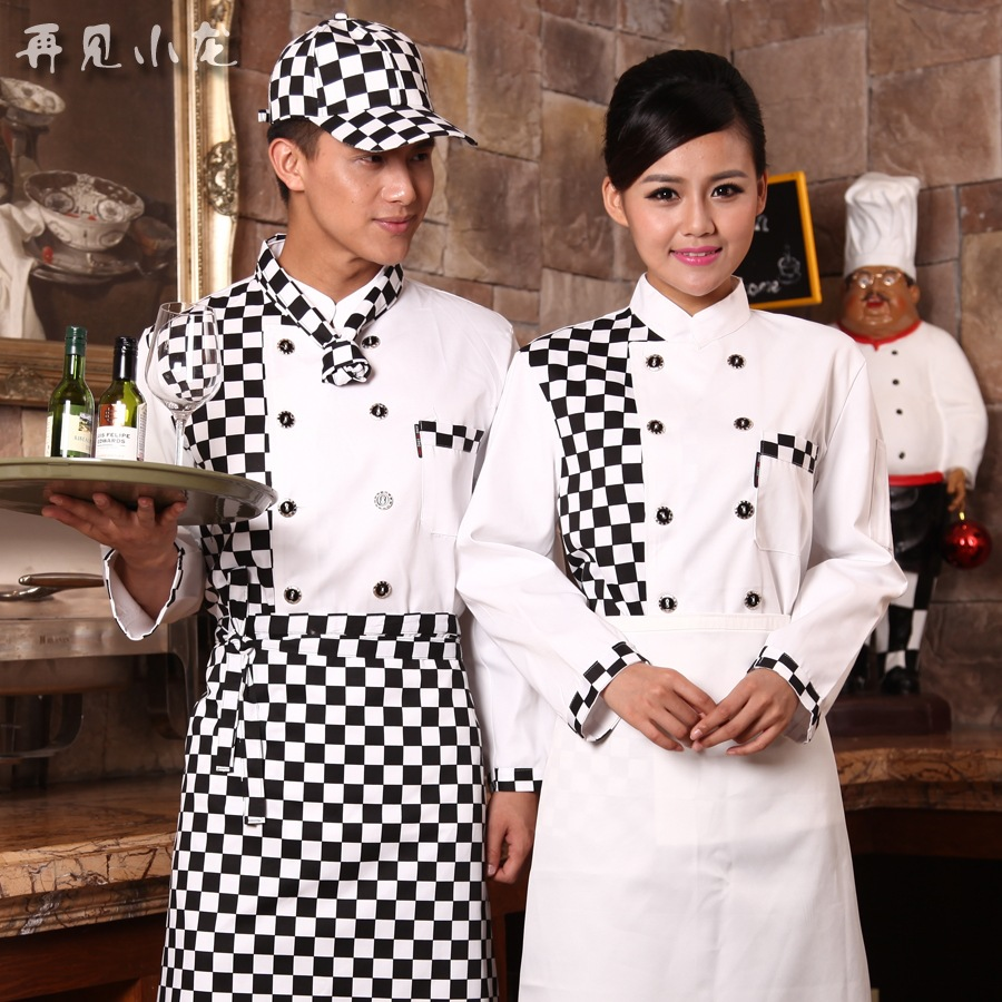 Chef Uniform Real Hot Sale Cotton Men Accessories Broadcloth 2016 Autumn And Winter Hotel Chef Service Cs555(China (Mainland))