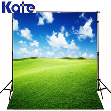 Photo Background Green Grass Mountain Photography Backdrops Children Blue Sky White Clouds Background Photography Studio