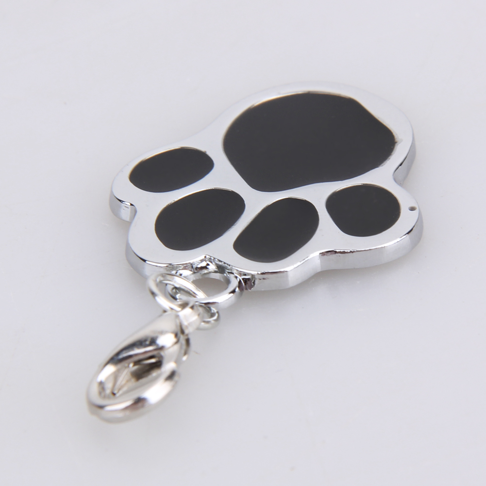 1PC Cat/Dog Footprint Shape Pendant Stainless Steel Memorials For kitty Puppy Collars Charm Pet Supplies