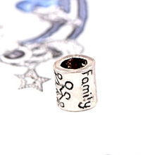 Silver Beads Round shape with family bead Chamilia Spacer European Murano Czech Bead Charm Fit For