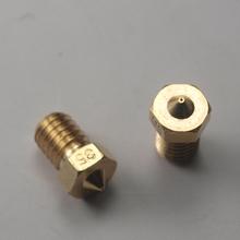 3 D printer accessory parts DIY brass E3D-V6 nozzle 0.35 mm1.75 mm filament E3D V6 hotend marked number