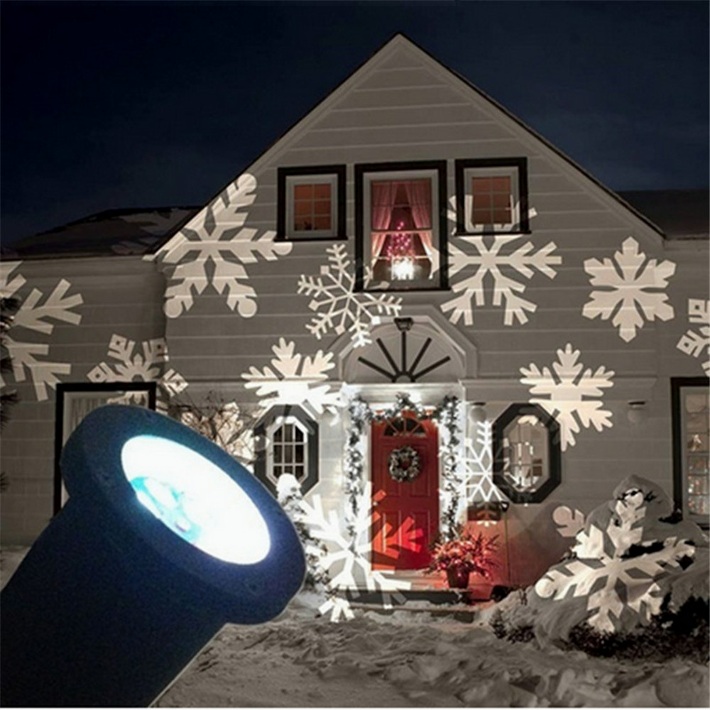 christmas led light projector romantic white snowflake projectors. Black Bedroom Furniture Sets. Home Design Ideas