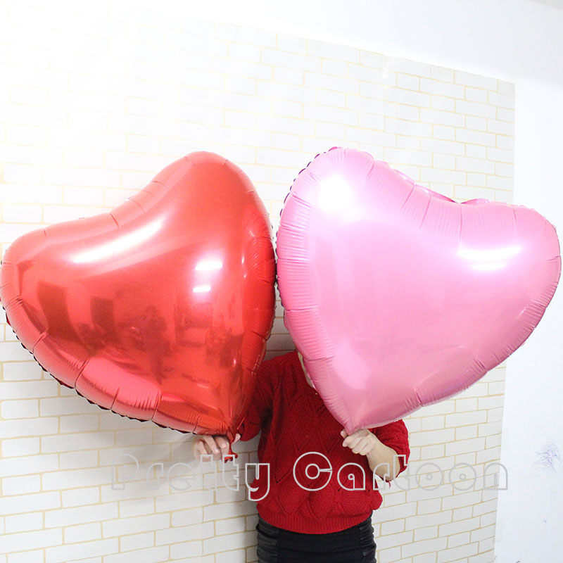 Large 30inch red/pink heart foil balloons Supersize 75cm red heart balloons wedding party say love decorations marriage ballon<br><br>Aliexpress