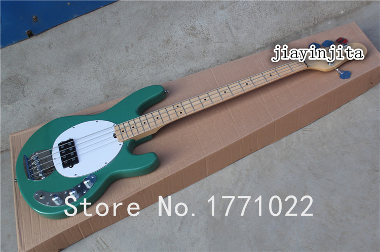 Free shipping Best Musical instruments Music Man StingRay 4 green Electric Bass with Active pickups