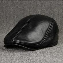 XdanqinX erkek kış şapka kalın sıcak inek derisi deri bere kulakları ile Snapback markalar moda dil kapağı erkek kemik baba erkek şapka(China)
