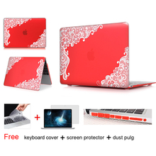 For Girls New Fashion Lace Matte Hard Case Cover for Macbook Air 11 12 13.3 Pro 13 15 inch With Retina Laptop Sleeve Accessories