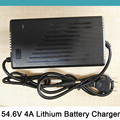 54 6V 4A Smart Lithium Battery Charger For 48V Electric Scooter Bicycle ebike Wheelchair Li ion