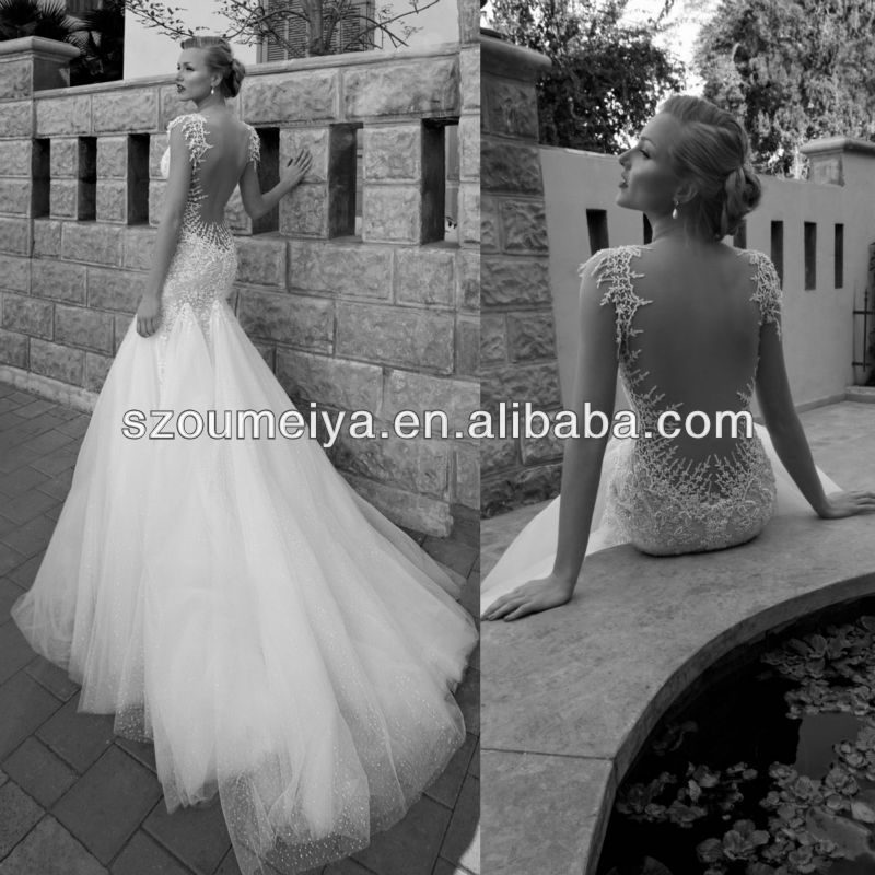 Strapless Low Back Open Slim Ing Wedding Dress Maybe In