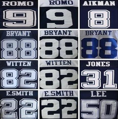 88 Dez Bryant shirts jersey 82 Jason Witten 9 Tony Romo 50 Sean Lee 22 emmitt smith stitched jersey(China (Mainland))