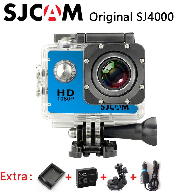 Original SJCAM SJ4000 Sport Action Camera Waterproof Camera HD 1080P sports Cam dv+Car Charger+Holder+Extra 1pcs battery+Charger(China (Mainland))